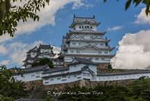 White Heron Castle of Himeji. / Himeji Castle (姫路城) also called the White Heron Castle (白鷺城), in Himeji City (姫路市). Founded in 1333, when a fort was constructed on Himeyama hill by Akamatsu Norimura, the ruler of the ancient Harima Province. Akamatsu Norimura (赤松 則村, 1277 - February 18, 1350) was a Japanese samurai of the Akamatsu clan in the Muromachi period. He was governor (shugo) of Harima Province in Hyogo Prefecture.