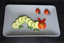 Obst und Gemüsetiere für Kinder