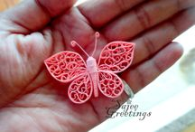 Paper quilling - butterfly+dragonfly