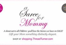 Mother's Day / Coming Sunday, it's Mother's Day! Thought of a gift yet? Why not gift her something distinctly elegant? Head over to shopping.ThreadTurner.com ‪#‎MothersDay‬ ‪#‎Love‬ ‪#‎Saree‬ ‪#‎ThreadTurner‬ ‪#‎MothersDayGift‬