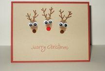 Reindeer Xmas card