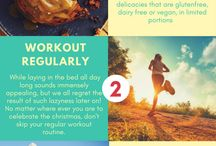 Christmas Stay Fit Infographic