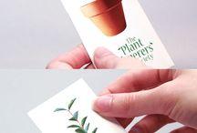 Disain kartu bisnis tanaman