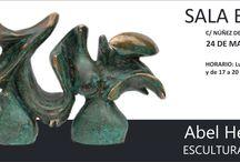 """EXPOSICIÓN DE DIBUJOS Y ESCULTURAS, """"ABÉL HERNÁNDEZ"""" / Esculturas y dibujos mostró las más recientes piezas escultóricas en bronce, junto con una serie de dibujos a pastel y creyón y óleos realizados por el artista tinerfeño Abél Hernández."""