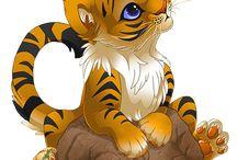 petit tigre au yeux bleus