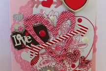 5 for 5 Valentine's Day Inspiration 2015 / Valentine crafts, cards, mixed media, tags, etc...