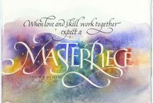Timothy Botts / I love this guy's calligraphy (loose term) and illustration that celebrates the words. Best in his field by far.