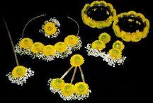 haldi flower jewellery