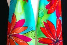 Silk painting! / Vários estilos da pintura em seda!