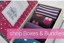 Sock Gift Boxes | Women / Shop ready made sock gift boxes and bundles! Quality reusable boxes at: https://www.seriouslysillysocks.com/boxes-bundles-1/ | Silly socks ideas, humorous socks, cute women's socks, cute crew socks, gift box socks, gift box for socks, gift box of socks, socks delivery, women's socks gift box.
