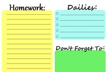 School / School and schedule organization things