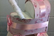 Kazzas Nappycakes / Nappycakes made with disposable nappies, face towels,bottles,blankets and much more