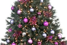 Hall Christmas Tree / Pink purple gold