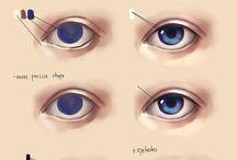 Draws eyes
