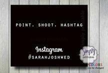 Wedding Hashtag Signs