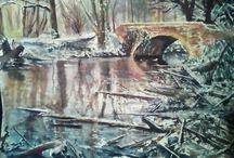My own Watercolorart / Ein kleiner Querschnitt meiner Aquarelle.