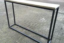 Industriële meubels / Meubels van hout en staal