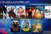 Cinemarine'de 3 Şubat Pazar Günü