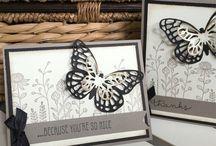 Butterfly card / Fjärilskort