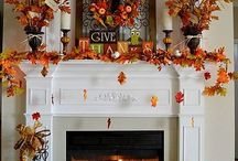Thanksgiving fireplace mantle
