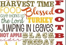 Thanksgiving / Let us give Thanks
