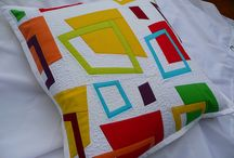 Quilted Pillows / Hand made pillows made with high quality cotton fabrics