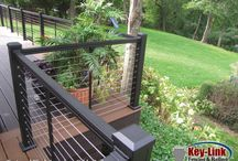 Key-Link Aluminum Porch & Deck Railing /  Key-Link is a leading provider of Aluminum Railing & Fencing for both residential and commercial projects. With multiple product line styles to choose from in 8 stock colors, a Glass Baluster system, plus a Cable Rail system, you'll see why Key-Link is the preferred choice for your aluminum fence and railing needs. http://www.KeyLinkOnline.com for More Information