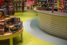 Decorative Epoxy Flooring / Decorative epoxy coatings for commercial flooring are beautiful, durable, skid-resistant, and easy to clean.