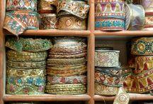Passamanerie, patchwork, textile