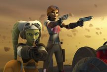 Sabine & Hera / The explosive artist Sabine Wren and the pilot Hera Syndulla from the Ghost team.