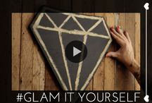 Glam It Yourself / DIY doesn't have to be hard. In the #GlamItYourself series, we show you how to master craft projects. / by Glam