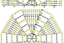 crochet hexagone