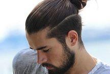 Długie męskie włosiwa