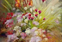 Garden paintings Nel Whatmore