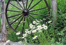 wagon wheels and wheel barrels... / by Nora Gholson