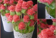 Flores de gomitas