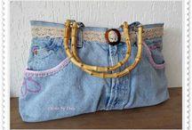 Jeans tassen (zelfgemaakt)