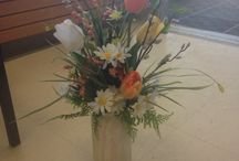 Contemporary Floral / These are some of the contemporary  pieces created by our Floral Designer @ the Timmins store.