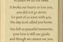 Poems of lost loved ones