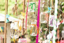 Wedding Deco: hanging vases / flowers & vases