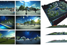 Urban design & landscape architecture Render  / Urban design & Landscape architecture Render-University Projects