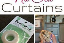 how to sew curtains without sewing.