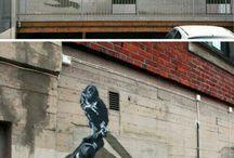 graffiti / Very cool paintings/graffiti on walls across the world