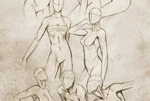 Desenho de figura humana feminina