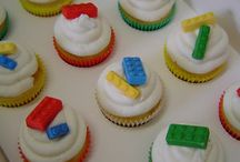 lego cakes, cupcakes and cookies
