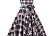 Платья и юбки в клетку