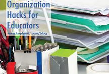 Get Organized! / Tips for teachers to use in their classroom!