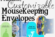 Mousekeeping Envelopes / by Couponing to Disney