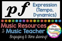 Music Education - Teaching Expression (tempo, dynamics, form etc.) / Resources and Ideas for teaching expression in music (dynamics, tempo, etc.). I love creating and sharing resources with other elementary music teachers. You can find me on Teachers Pay Teachers at Pitch Publications.