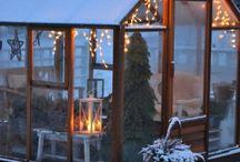 Gewächshaus zur Weihnachtszeit